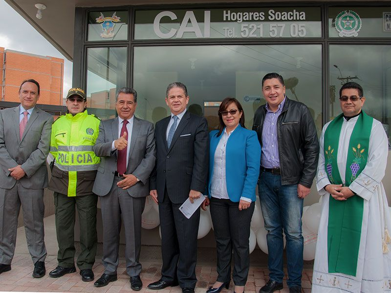 La constructora Apiros donó nuevo CAI para la comunidad de Hogares Soacha